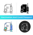 vaccine quality certificate icon vector image vector image