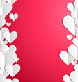 Valentines Day frame with lines of paper hearts vector image vector image