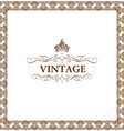 vector vintage decor frame ornament floral vector image vector image