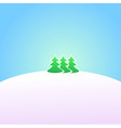 Wallpaper Winter landscape vector image