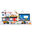 website is under construction service page vector image
