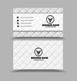 white black attractive business card template vector image vector image
