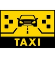 yelow taxi background with cab on road vector image