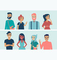 young casual people multiracial students vector image