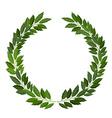 laurel wreath on white background vector image