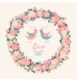 Cute wedding invitation vector image