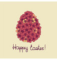 Easter greeting card with flowers of eggs vector image