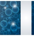 abstract blue deep - water background vector image vector image