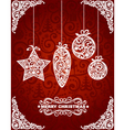 Abstract Christmas Toys vector image vector image