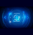 abstract hud technology background 011 vector image vector image