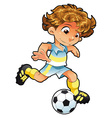 Baby Soccer Player vector image vector image