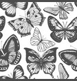 background with butterflies vector image vector image