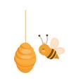 bee honeycomb farm animal cartoon vector image vector image