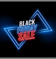 black friday neon sale banner design background vector image vector image