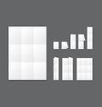 Blank white folding paper flyer vector image vector image