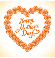 bouquet of orange roses heart isolated on white vector image