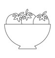 bowl with tomatoes icon vector image vector image