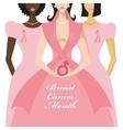 Breast Cancer AwarenessThree International Woman vector image