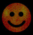 bright dotted glad smile icon vector image
