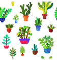 cactuses seamless pattern detailed design graphic vector image vector image