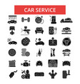 car service thin line icons linear vector image vector image
