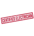 Certified Electrician rubber stamp vector image