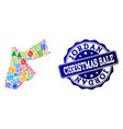 christmas sale collage of mosaic map of jordan and vector image vector image