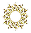 decorative art frame vector image vector image