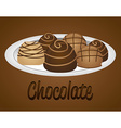 delicious chocolate vector image vector image