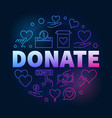 donate colorful round outline vector image vector image
