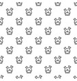 double flask pattern seamless vector image vector image