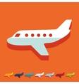 Flat design plane vector image