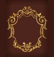 frame ornamental gold royal border decoration vector image vector image