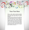 Framing with curly colorful ribbons for greetings vector image