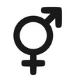 gender icon man and woman symbols vector image vector image