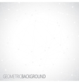 geometric gray background molecule vector image