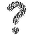help figure of money icons vector image