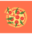 Hot pizza slice with melting cheese of margherita vector image vector image