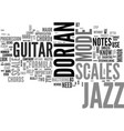 jazz guitar scales common scales used in jazz vector image vector image