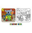 koala bear knitter abc coloring book alphabet k vector image vector image