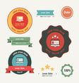 Label And Ribbon set vector image vector image