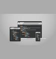 laptop tablet and smartphone screns cross platform vector image vector image