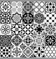 lisbon geometric azulejo tile pattern vector image vector image