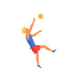 man playing volleyball professional sportsman vector image vector image