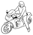 Motorcycle And Drive vector image vector image