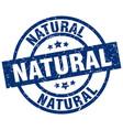 natural blue round grunge stamp vector image vector image