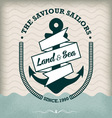 Nautical Anchor Isolated on Old Paper vector image vector image