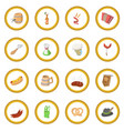 oktoberfest party cartoon icon circle vector image vector image