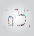 people crowd gathering in thumb up shape social vector image vector image