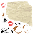 Piece of Old paper and design grunge elements vector image vector image
